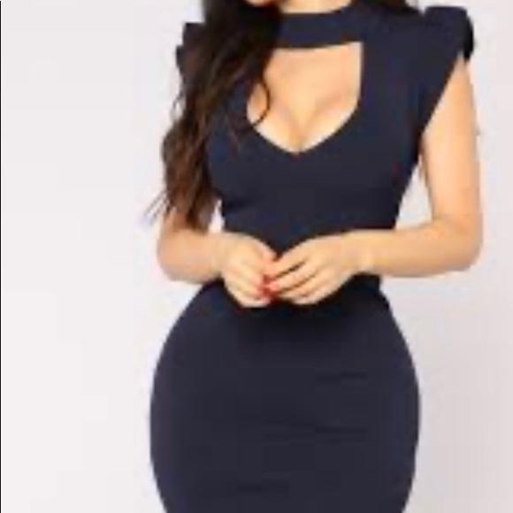 Navy blue fashion nova dress. Size medium